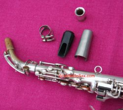 Conn 1915 'New Wonder I' Bb Soprano, Curved, Detachable Neck, Silver #34,72x (Archived)