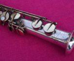 Buescher 1920 'True Tone' C Soprano, Silver & Gold Plate #76k